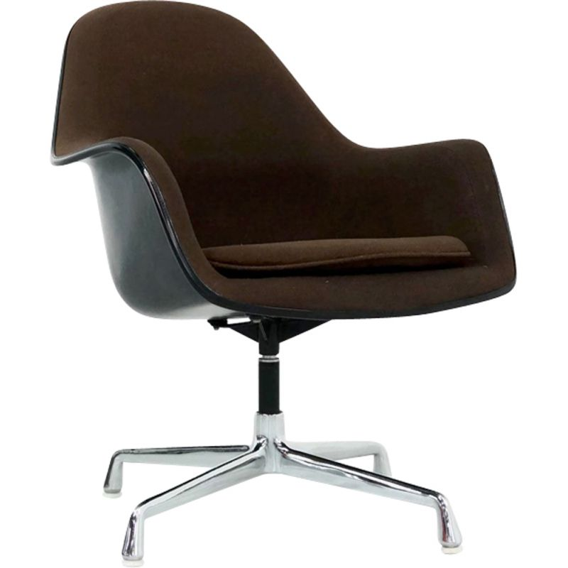 Vintage brown armchair EA 178 by Eames for Herman Miller