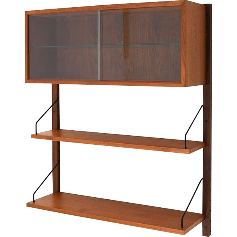 Vintage royal wall system in teak by Poul Cadovius