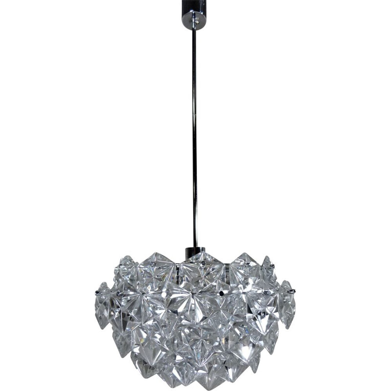 Vintage German chandelier in crystal by Kinkeldey
