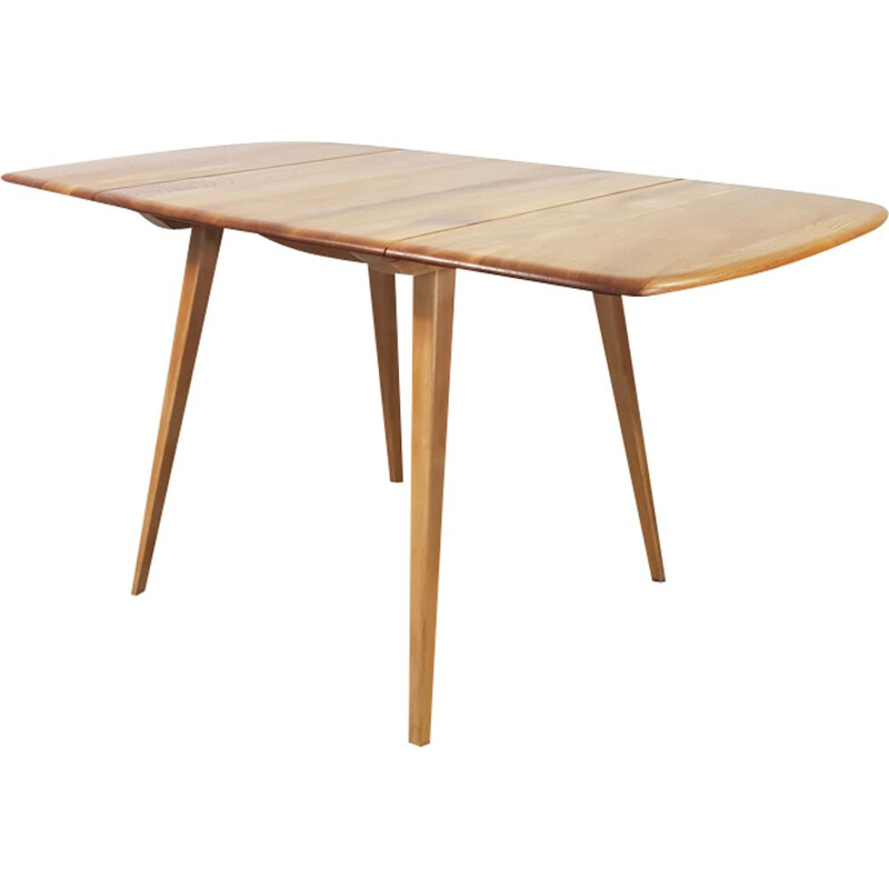 Vintage drop leaf dining table by Lucian Ercolani for Ercol