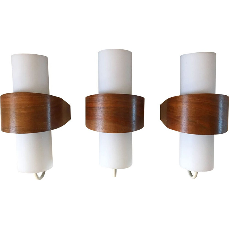 Set of 3 white wall lights by Philips