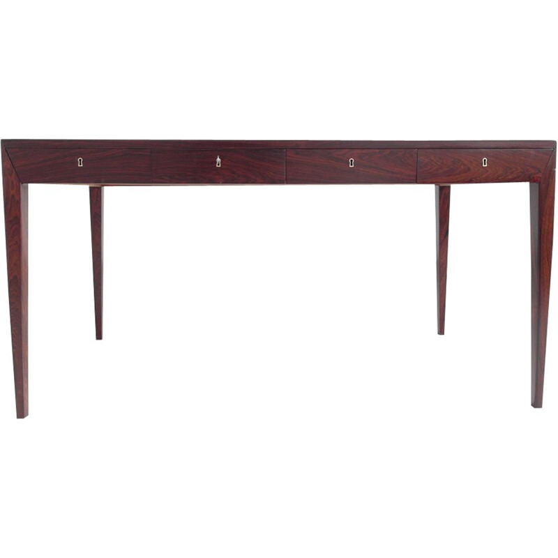 Vintage writing desk in rosewood by Severin Hansen