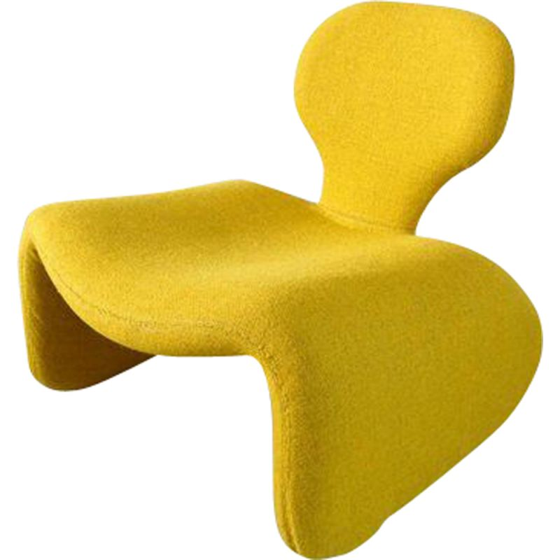 Vintage yellow Djinn chair by Olivier Mourgue