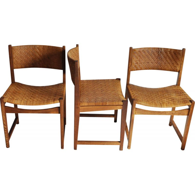 Set of 3 vintage chairs model 351 by Peter Hvidt