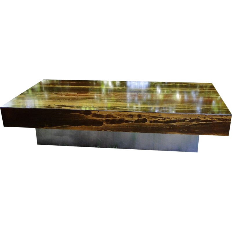 Vintage coffee table by Guy Lefèvre