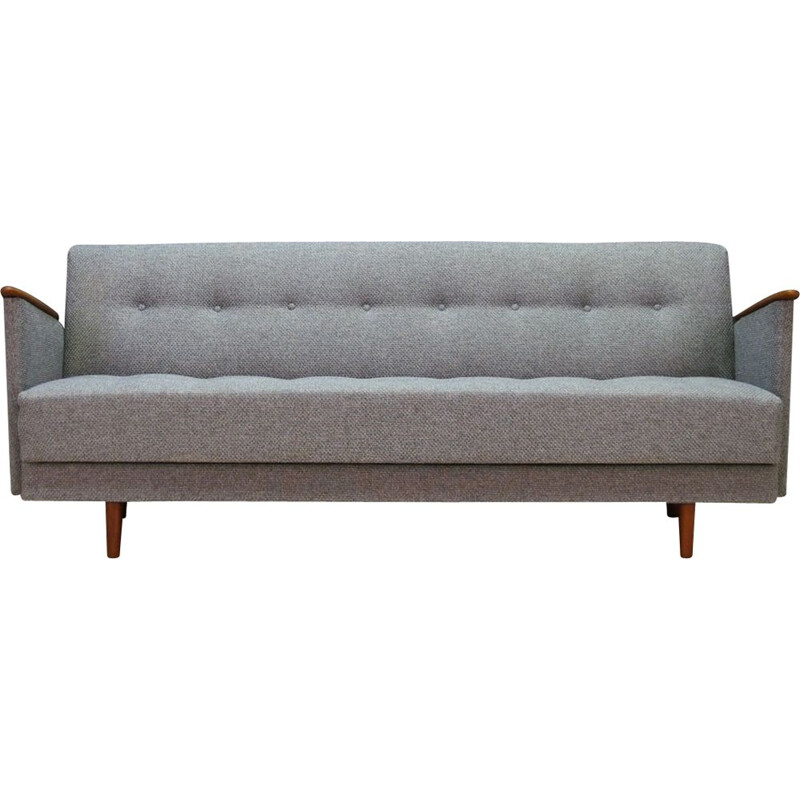 Vintage Danish grey 3-seater sofa