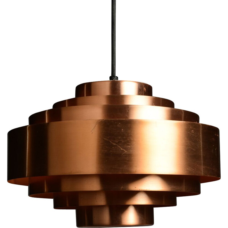 "Vintage pendant lamp ""Ultra"" in copper by Jo Hammerborg"