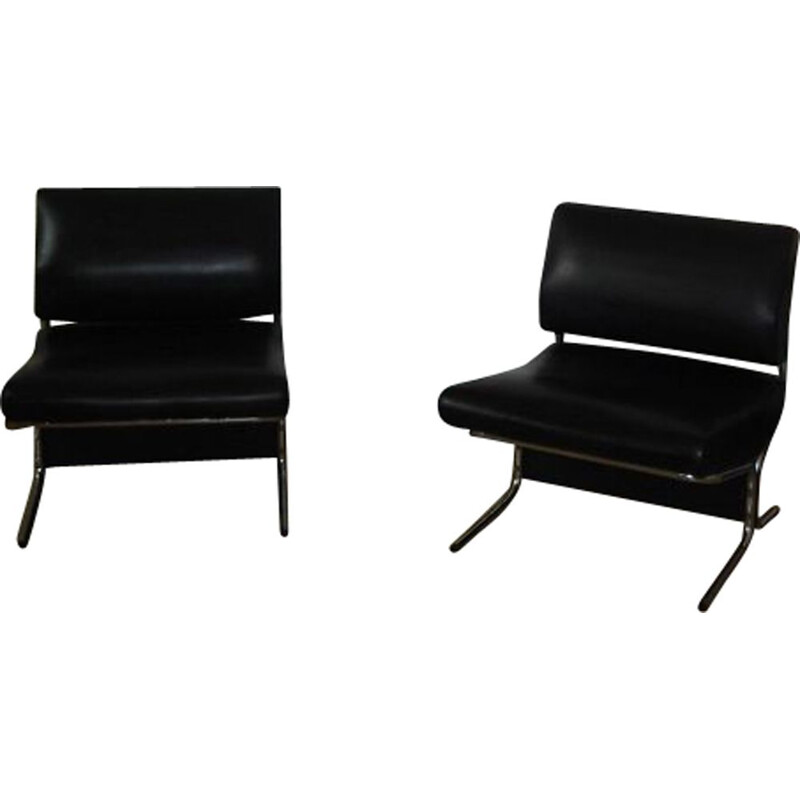 Pair of vintage Caracas armchairs by Pierre Guariche