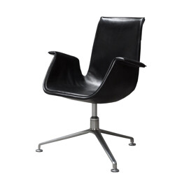 Tulip armchair in leather and aluminum, Preben FABRICIUS & Jorgen KASTHOLM, Walter Knoll edition - 1950s