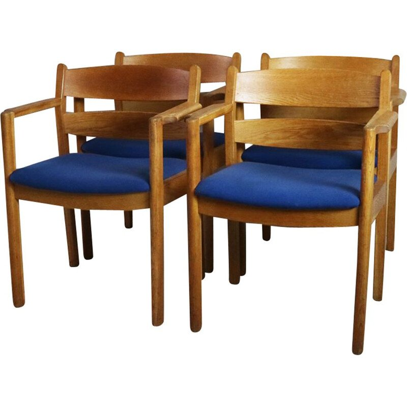 Set of 4 vintage Danish chairs by F. D. B. Mobler