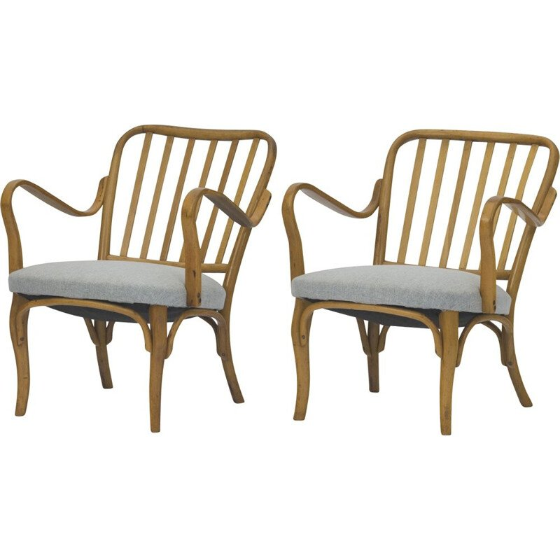 Set of 2 vintage armchairs 752 by Josef Frank