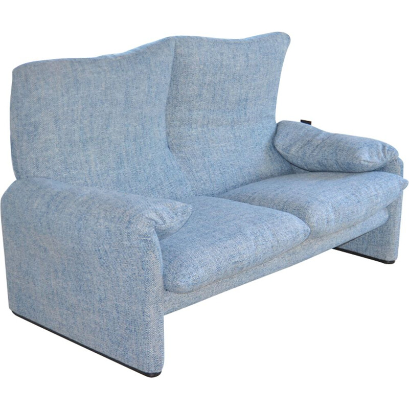Vintage 2 seater sofa Maralunga by Vico Magistretti for Cassina