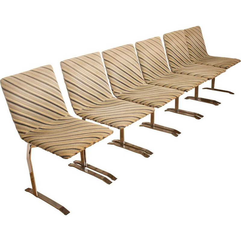 Set of 6 vintage chairs by Giovanni Offredi for Saporiti