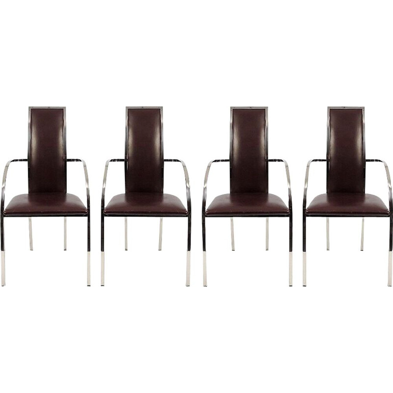 Set of 4 Belgian dining chairs from Belgo Chrom