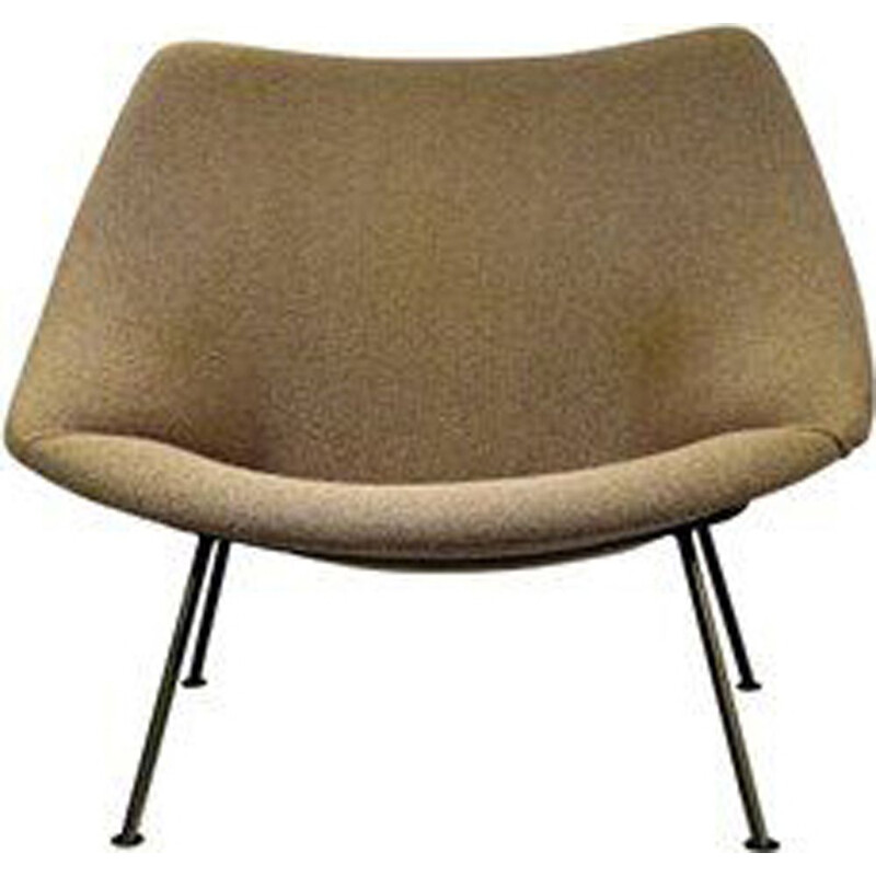 "Vintage beige armchair ""Oyster"" by Pierre Paulin for Artifort"