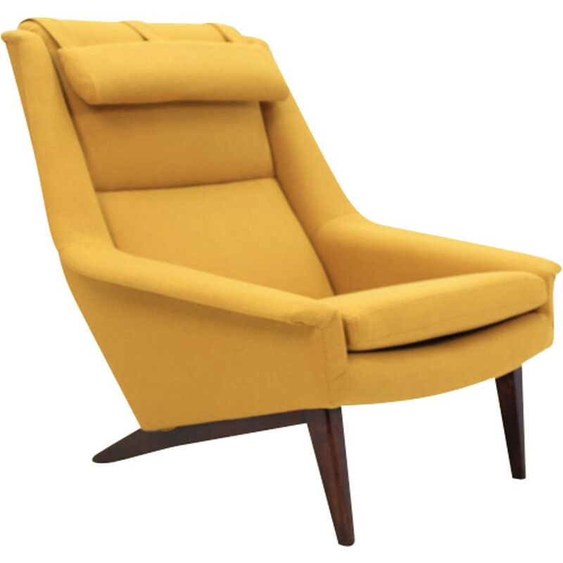 Vintage yellow armchair 4410 by Folke Ohlsson for Fritz Hansen