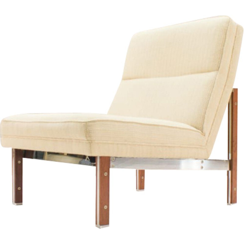 Vintage steel and rosewood armchair from Casala