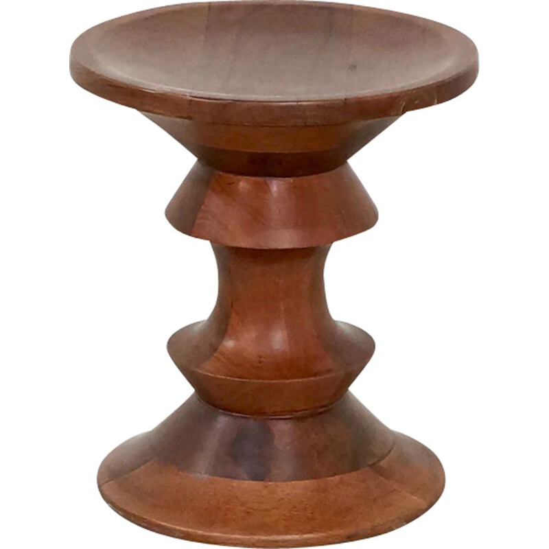 Vintage walnut stool by Ray Eames for Herman Miller