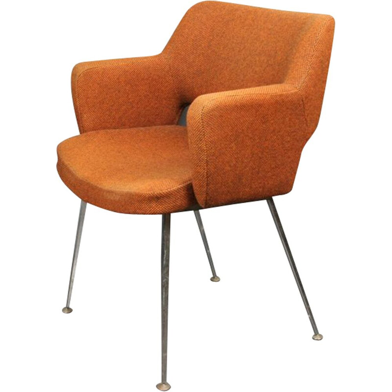"Vintage ""Conference"" brown armchair by Eero Saarinen for Knoll"