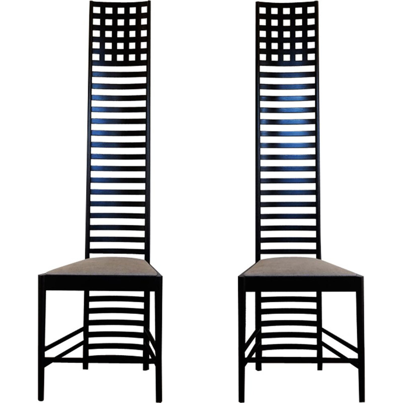 "Chairs ""Hill house 1"" by Charles Rennie Mackintosh for Cassina"