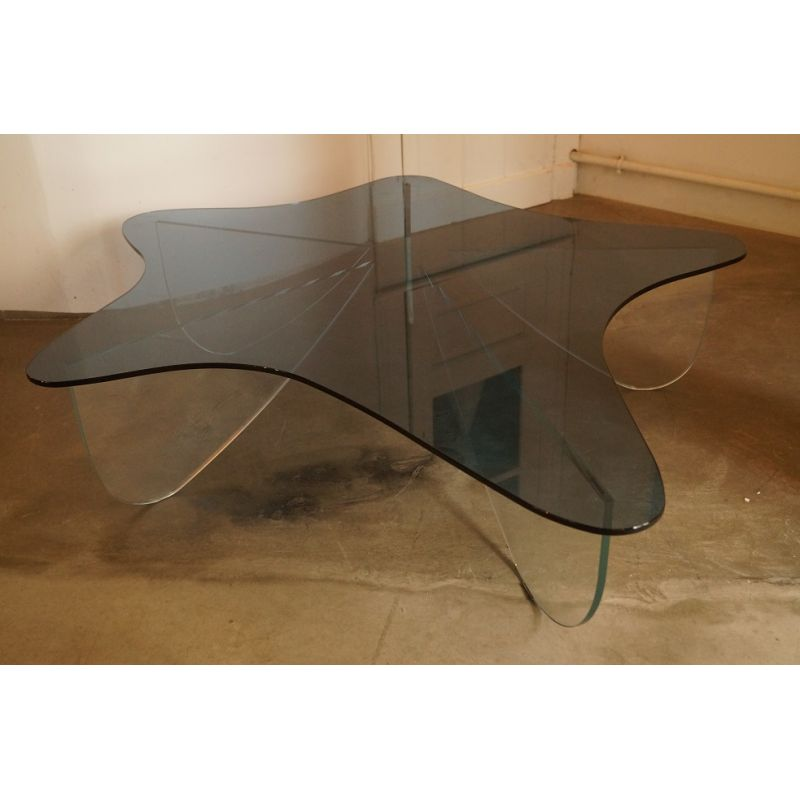 Vintage Coffee Table In Gl By Roche Bobois Designer Furniture