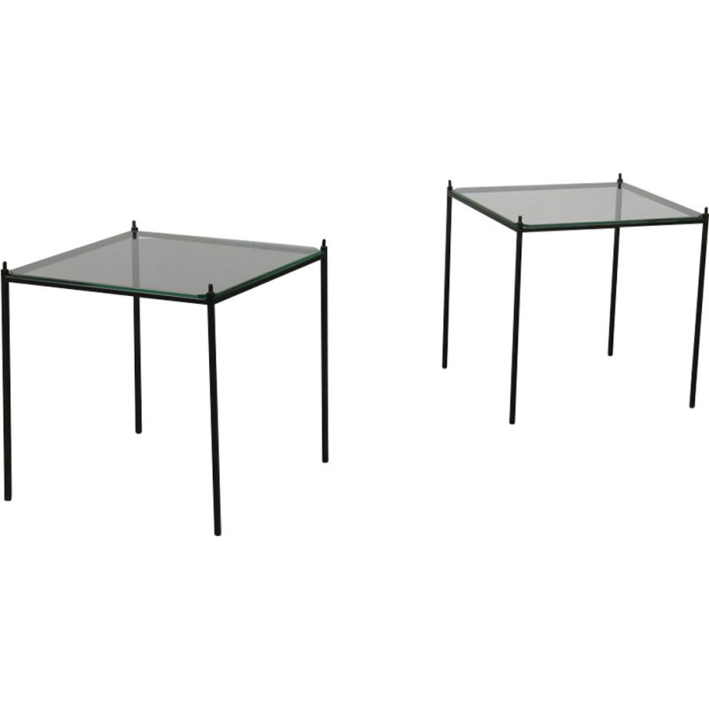 Stackable Metal Side Tables 1950s