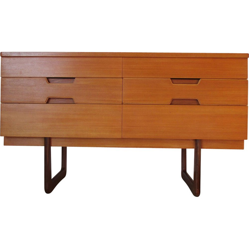 Small vintage chest of drawers by G Hoffstead for Uniflex