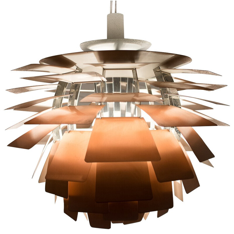 PH Artichoke ceiling lamp in rubber and steel, Poul HENNINGSEN - 1960s