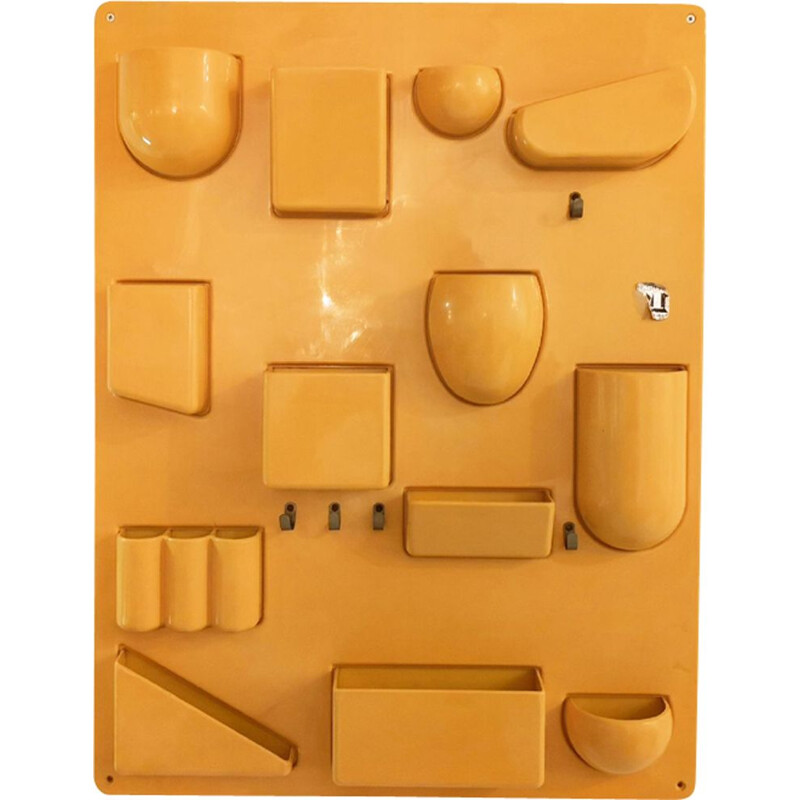 Vintage yellow storage unit by Dorothée Maurer-Becker for Design M