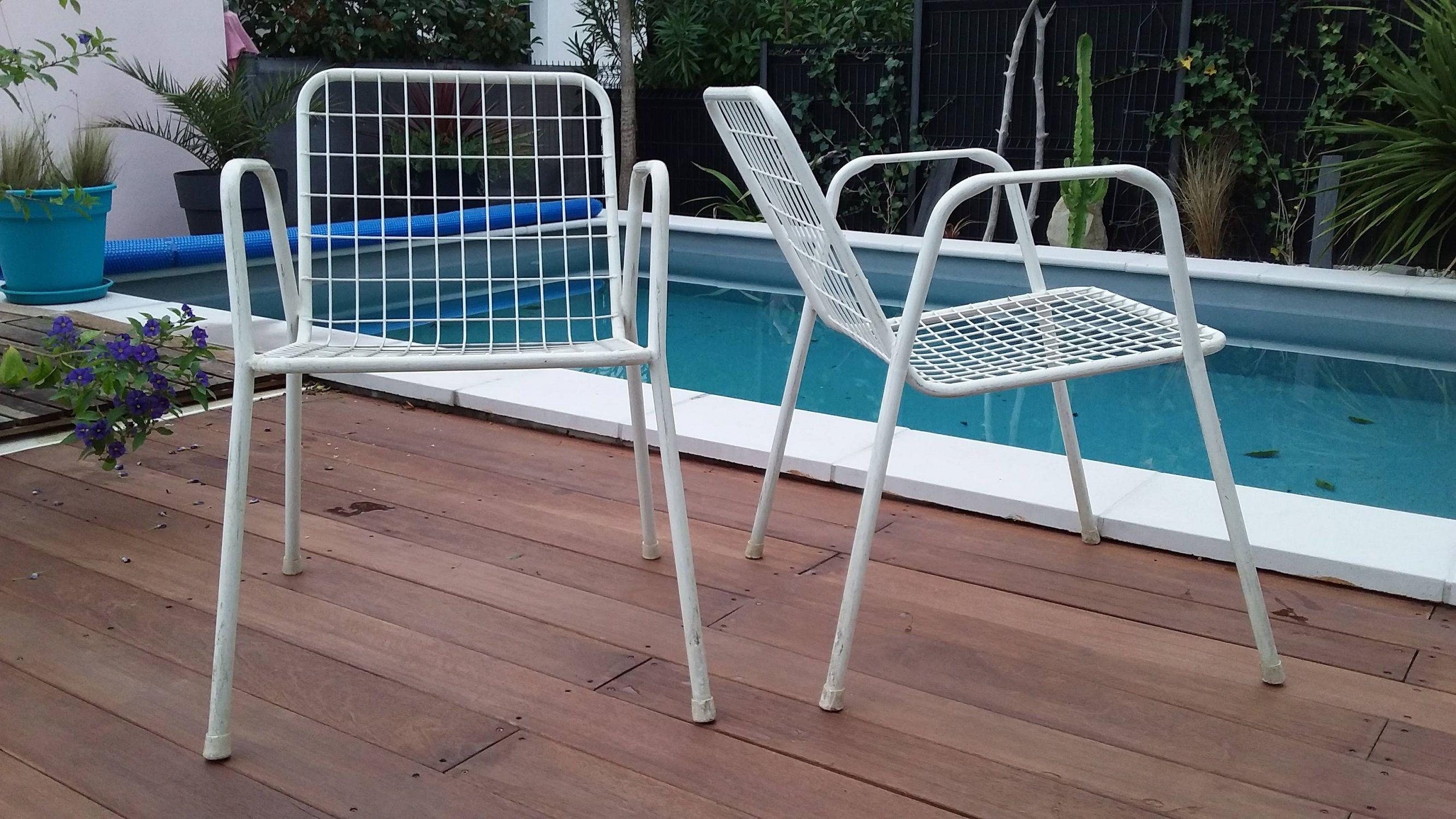 24e927f7d51 Set of 6 vintage white garden chairs by EMU - Design Market