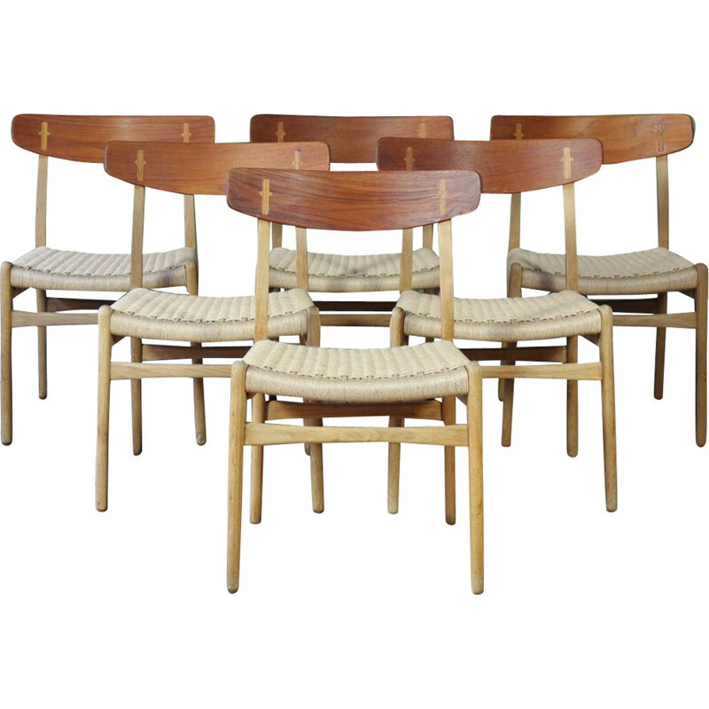 Set of 6 CH23 dining chairs by Hans Wegner for Carl Hansen