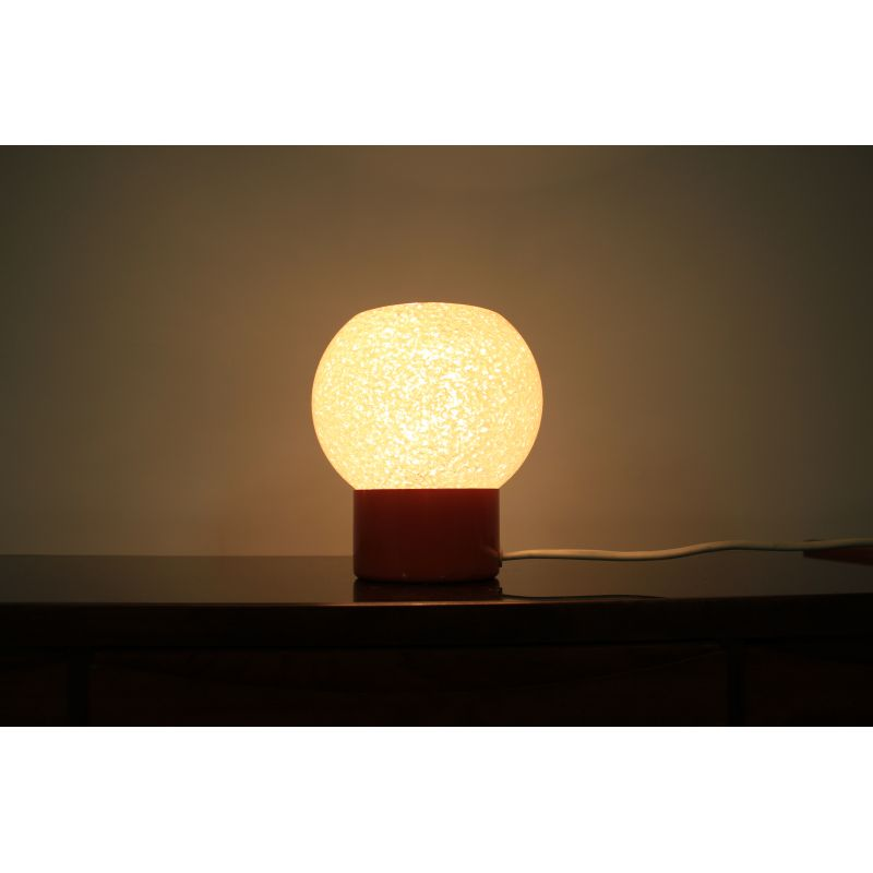 Small vintage orange table lamp