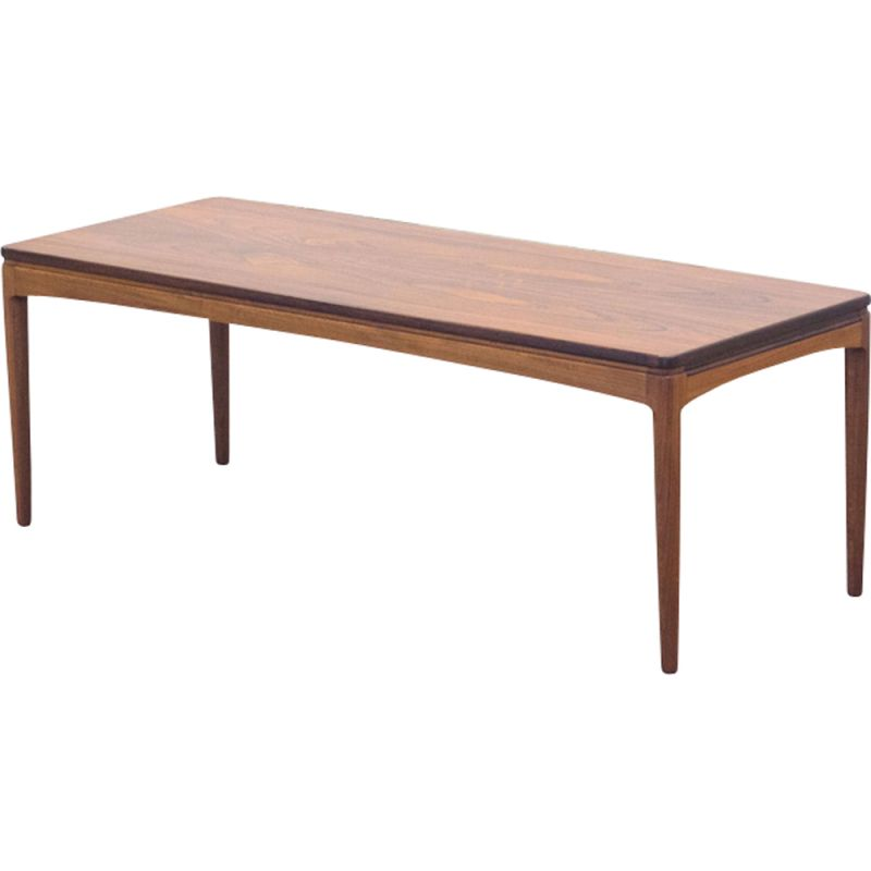 Coffee Table Extendable.Vintage Extendable Rosewood And Mahogany Coffee Table 1950
