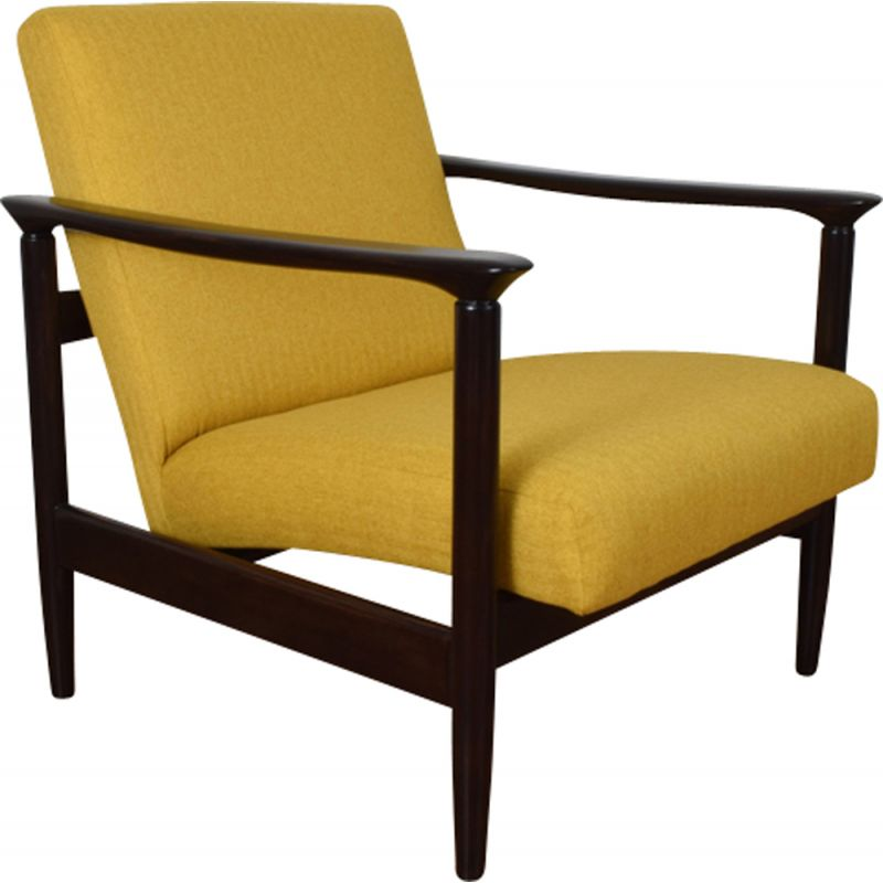 Vintage yellow armchair Gfm 142 by Edmund Homa