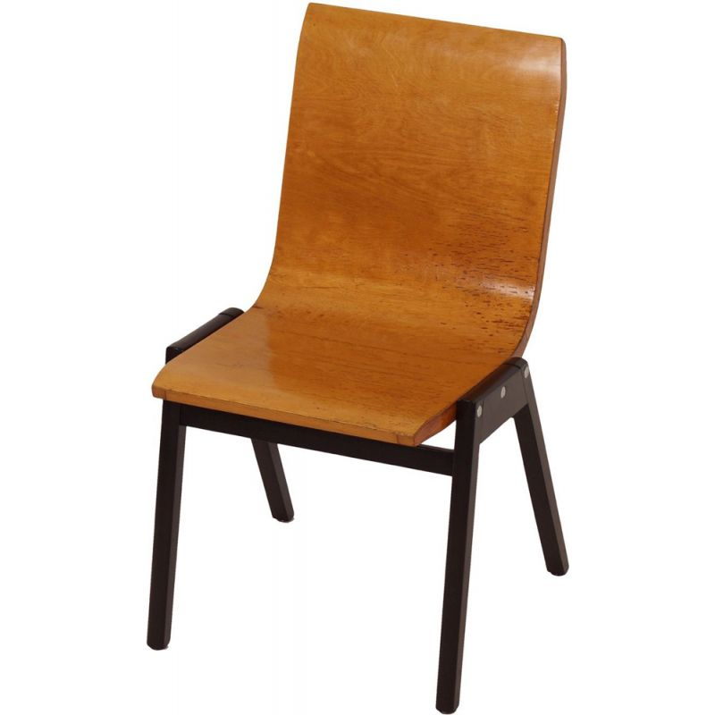 Vintage chair in beech by Roland Rainer