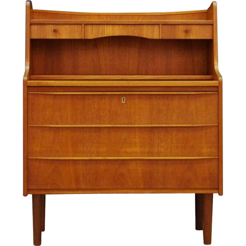 Vintage Danish secretary in teak