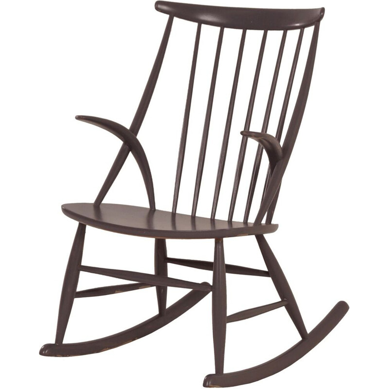 "Vintage rocking chair ""IW3"" by Illum Wikkelsø for Niels Eilersen"
