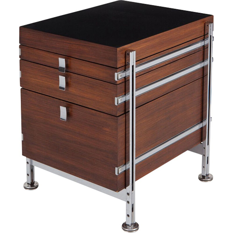 Vintage chest of drawers in mahogany by Jules Wabbes  for Mobilier Universel