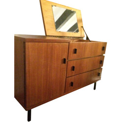 Vintage dressing table in teak and metal - 1950s