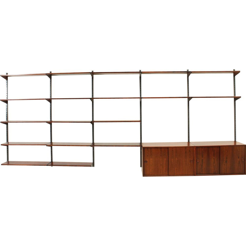 Vintage shelving system in rosewood by Kai Kristiansen