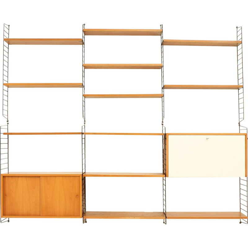 Vintage Swedish wall unit by Kajsa and Nisse Strinning for String Design AB