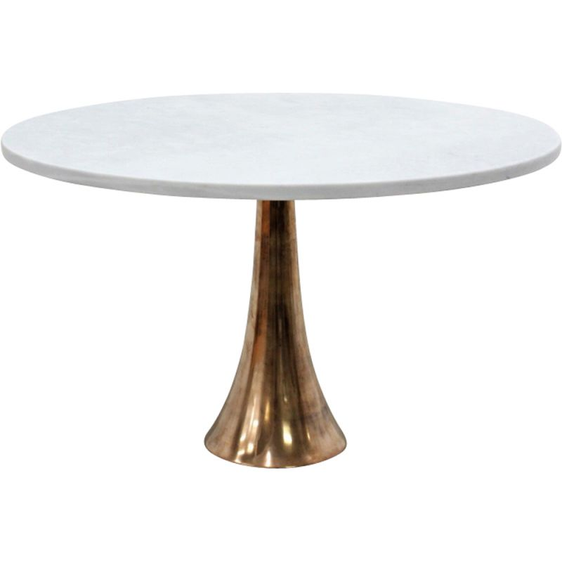 Vintage bronze and marble table by Angelo Mangiarotti