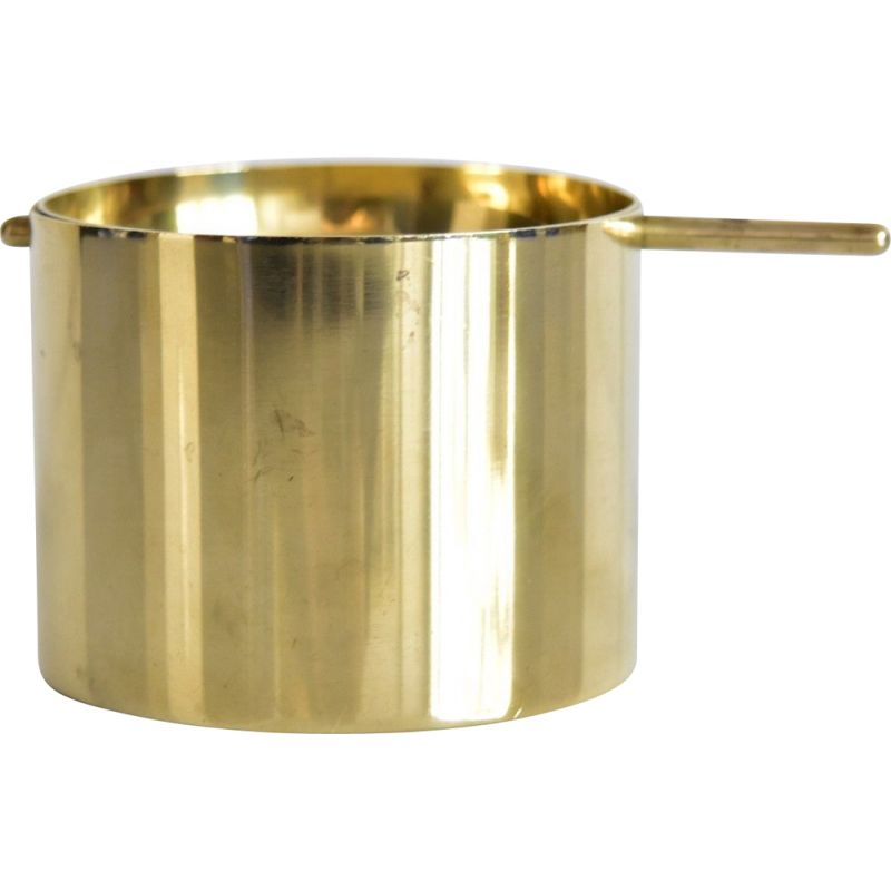 Vintage golden ashtray by Arne Jacobsen