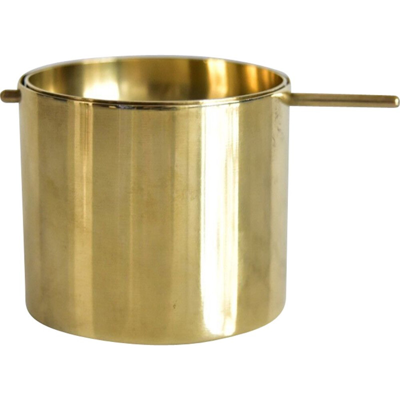 Vintage small brass ahstray by Arne Jacobsen