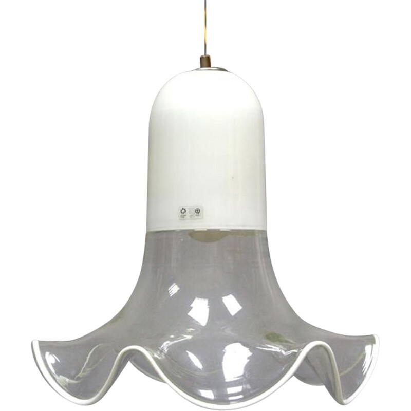 Vintage Italian pendant lamp by Pamio and Toso for Leucos