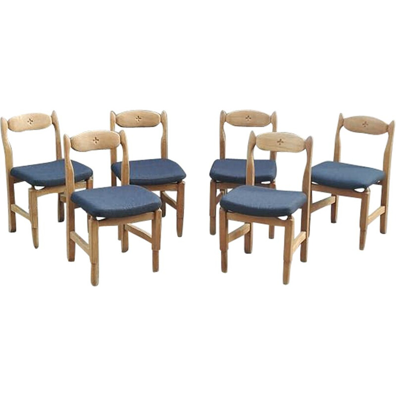 Set of 6 Lorraine chairs by Guillerme and Chambron