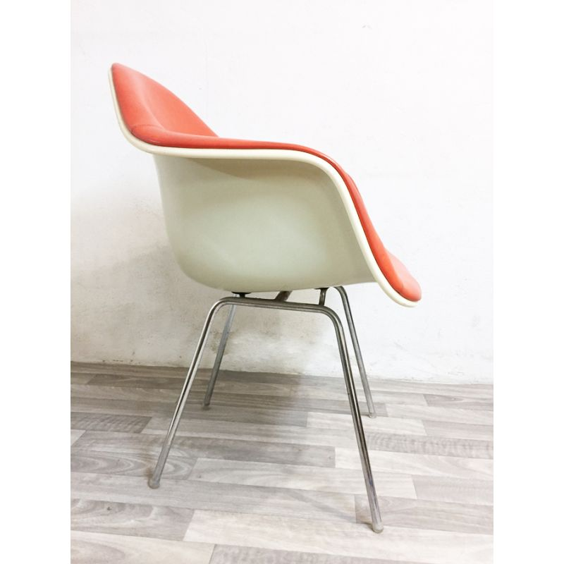 Vintage Dax Armchair Erman Orange Metal Eames And Miller For Leather j4AR35L