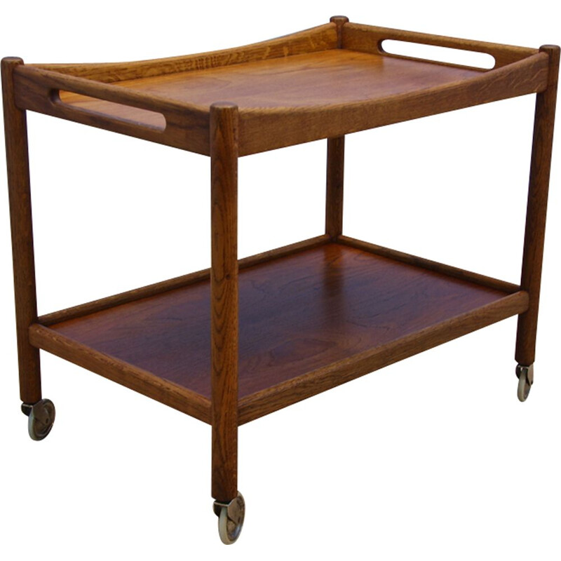 Vintage Danish serving trolley by Hans Wegner for Andreas Tuck