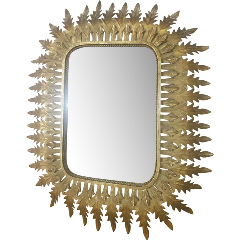 Vintage mirror in brass