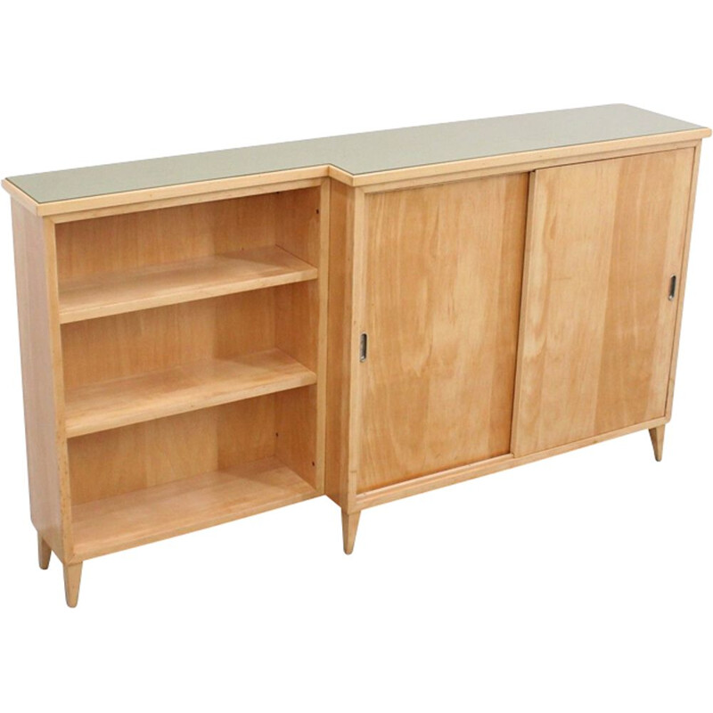 Vintage Italian cabinet in birch wood